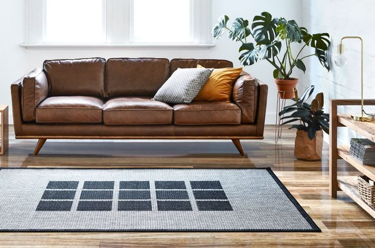 A great solution for defining an open plan space could be as simple as adding a rug #bunnings #rug #interior #modern