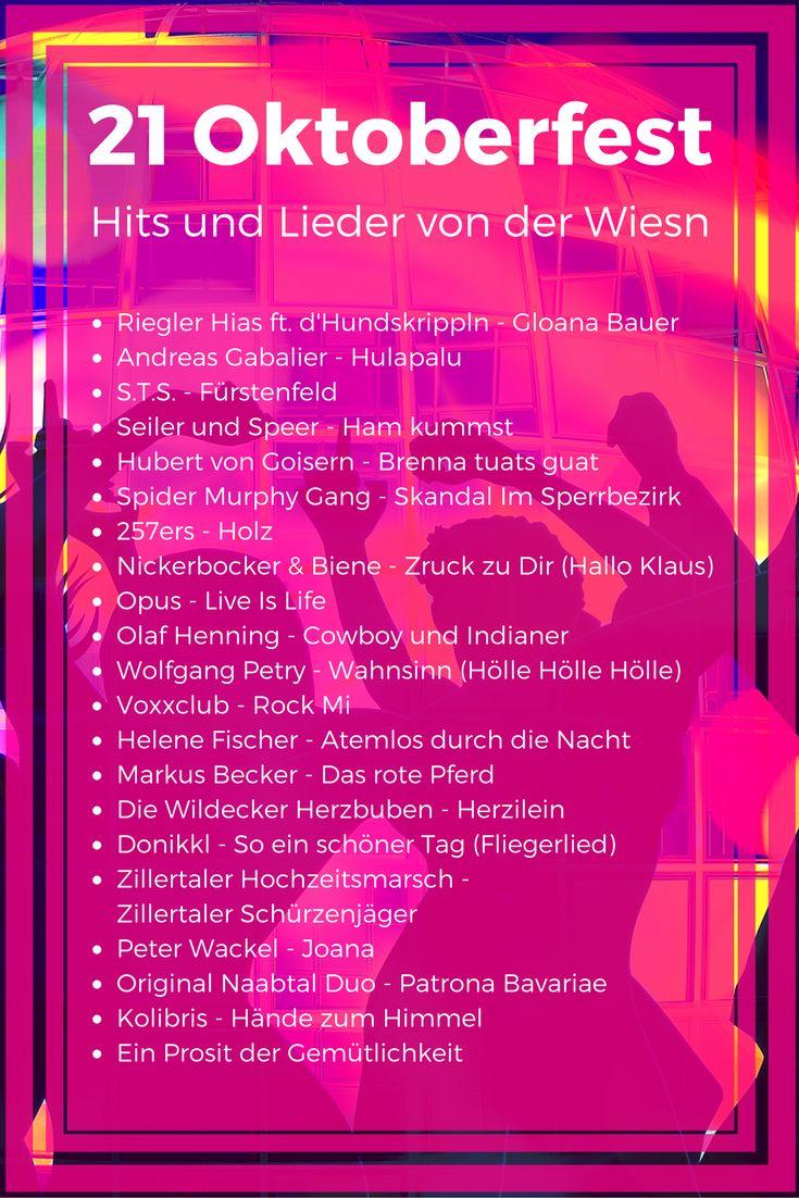 Oktoberfest Hits von der Wiesn, #Liste mit 21 Liedern die zum #Oktoberfest passen #DJ #Playliste
