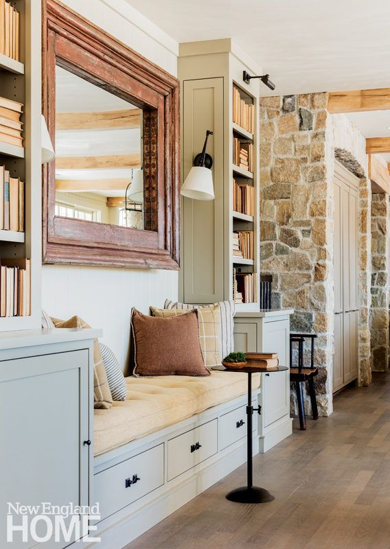 custom bookshelves frame an inviting banquette creating cozy spot for lounging or conversationarchitecture dewing schmid kearns interior design lisa