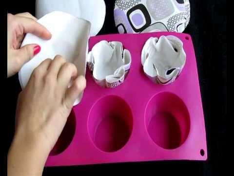 Las capsulas o capacillos de los cupcakes o panquecitos. Baking cases - YouTube