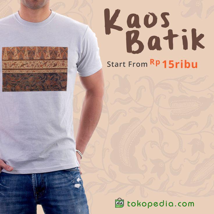 Tidak cukup sampai menaruh motif batik di atas kaos saja, karena kini banyak kaos batik yang dipertemukan dengan logo klub bola. Mulai dr 15rb, klik: http://www.tokopedia.com/p/pakaian/batik/kaos?ob=2