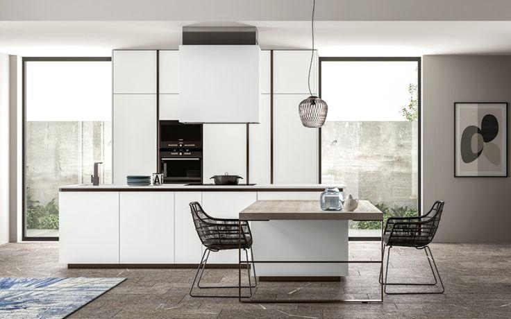 cucina kitchen progetto nr 1 mobili cucina in finitura bianco extra ...