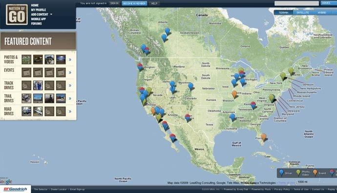 nice map web site
