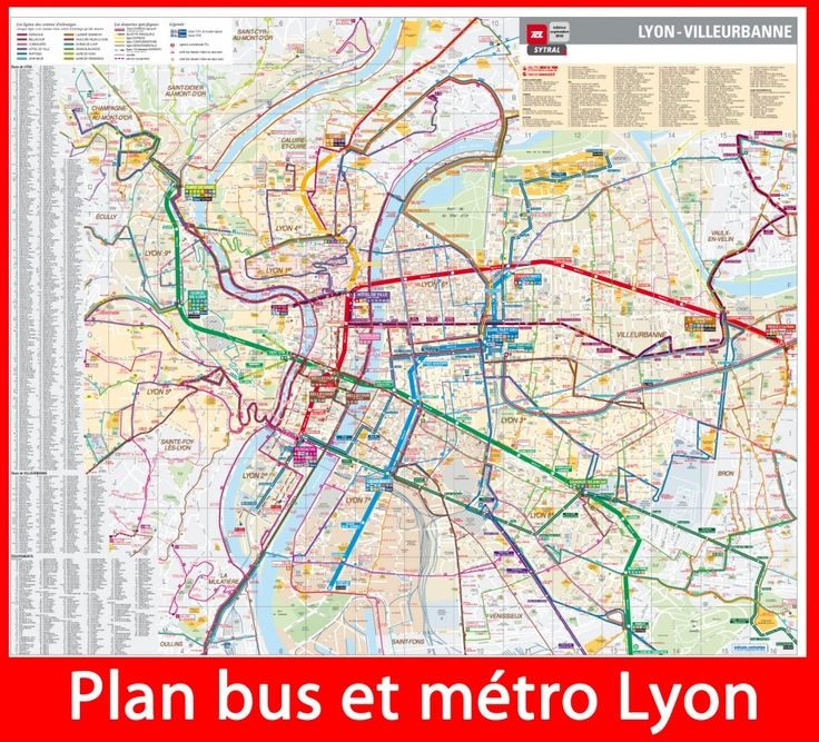 plan m tro et bus lyon france pinterest buses and lyon. Black Bedroom Furniture Sets. Home Design Ideas