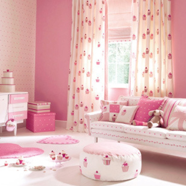 Baby Girl Themed Bedroom Ideas: Cupcake Theme Baby Girl Room #babythemes #girlthemes #room