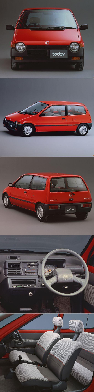 1985 Honda Today / Japan / red / kei-car