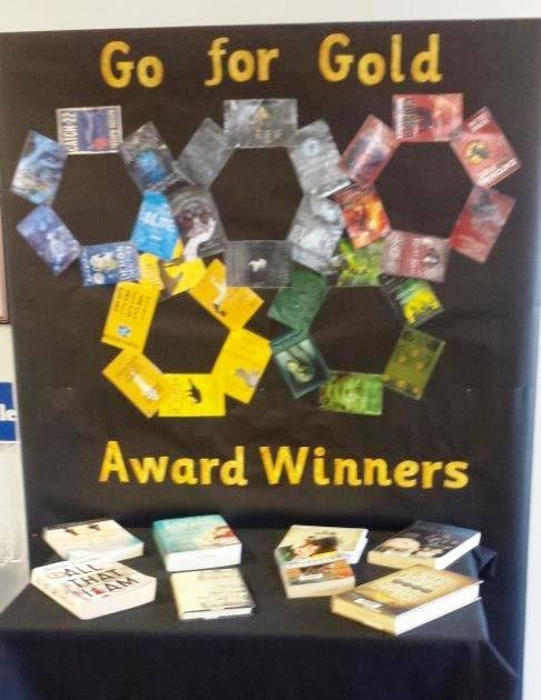 Go for Gold library display to coincide with Olympics Queanbeyan Library