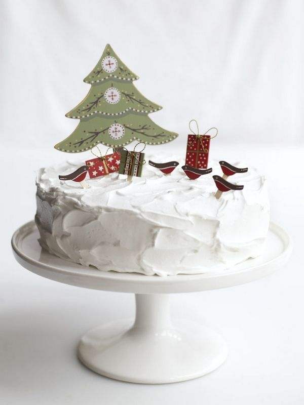 Snow scene food! Could frost cake fluffy white or shape ...