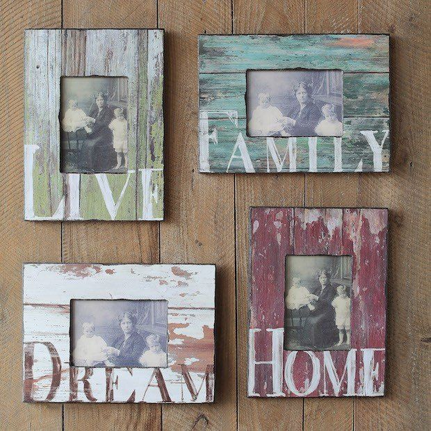 Distressed Wood Picture Frames | Rustic Picture Frames