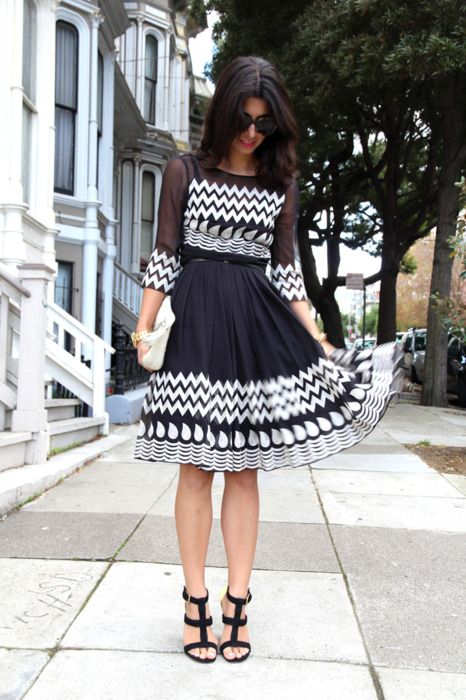 Really like this black and white dress