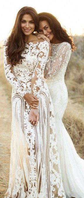 Zuhair Murad, Lace Dresses. I love unique wedding dresses with sleeves.