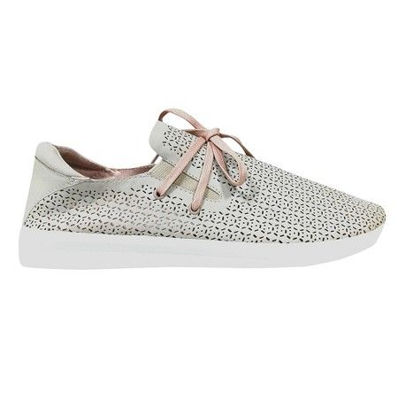 A polished spin on a sporty look, these Women's Raelee Perforated Sneakers by Mossimo Supply Co. are perfect for the gym or running errands. The perforated design promotes airflow so you stay cool and comfy.
