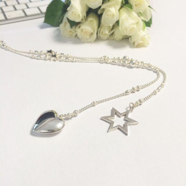 valentine silver necklaces