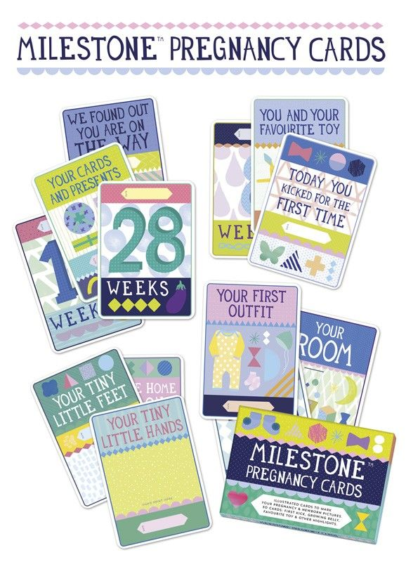 Count down the weeks with these adorable Milestone Pregnancy Cards. Record everything from your baby's first kick to your pregnancy cravings!