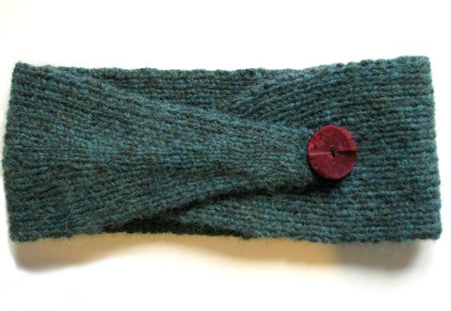 Memento Vivere: DIY: Strikket pandebånd med knap /// Knitted headband with button