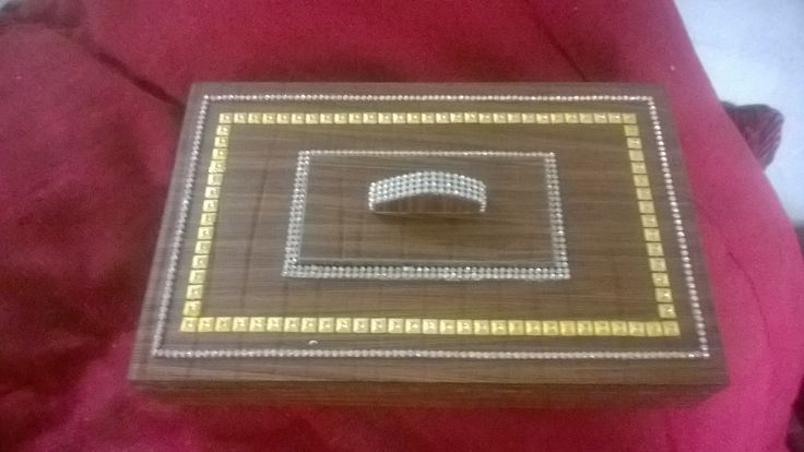 Wooden gift box, jewelry box, dry fruit box, approximately 8 x 12 inches, cost around Rs. 600 INR