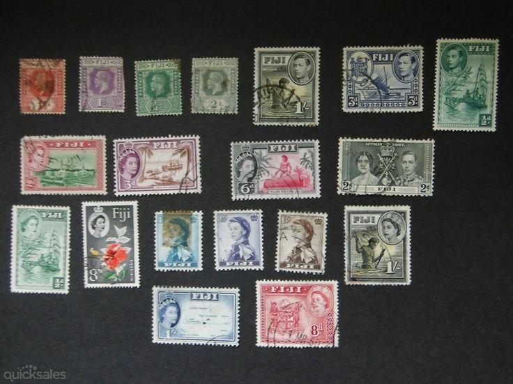 Fiji KGV, KGVI ,QE 11 used stamps by jones101 - $15.00