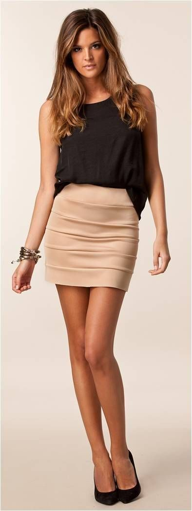 nude skirt with black.