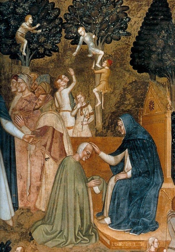 "Andrea di Bonaiuto - Fresco from Santa Maria Novella in Florence,""Way of Salvation"",1365-68"