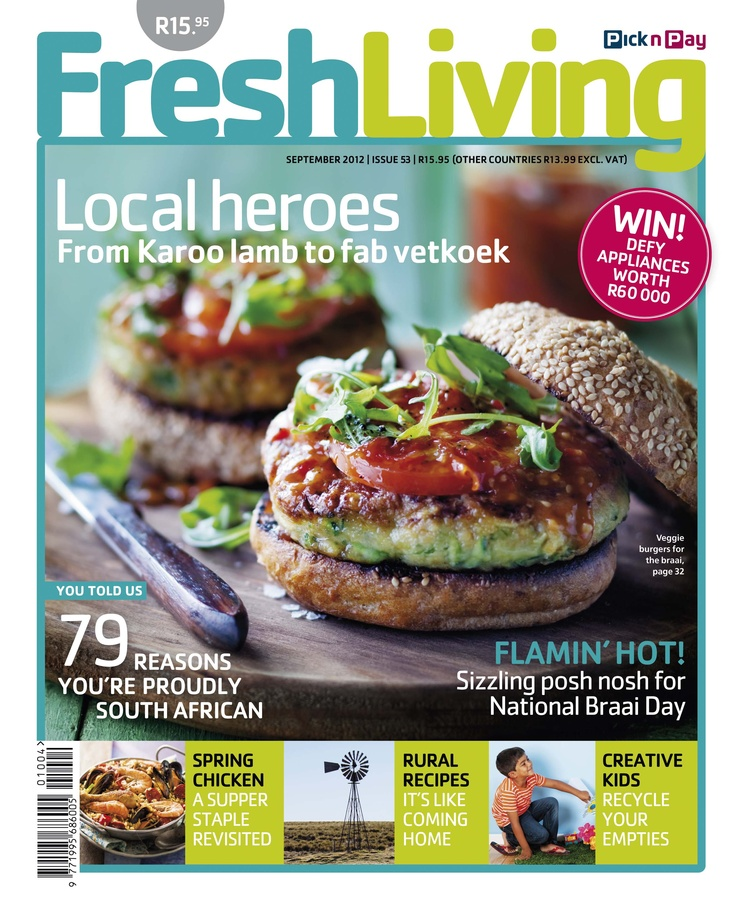 Love SA? Indulge in Karoo lamb, fab vetkoek & other local heroes with #Fresh Living's September issue, on sale now! #picknpay #freshliving