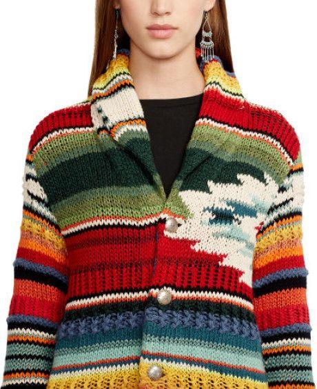 Polo Ralph Lauren teje Serape Cardigan en Multicolor (Pattern)