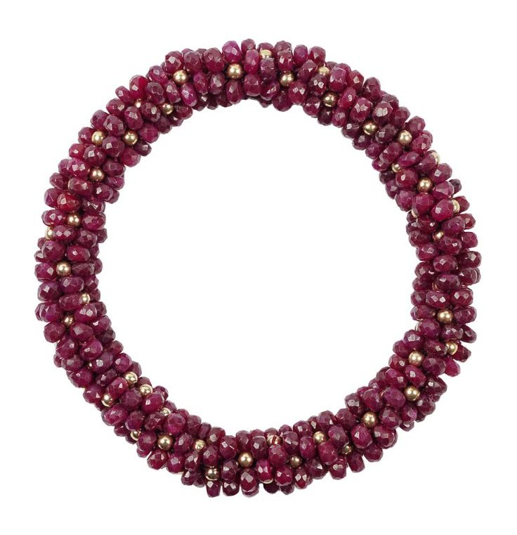 Andrea bracelet - Candied cherry rubies with 14K gold
