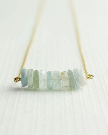 Aquamarine Dream Necklace by JewelMint.com, $48