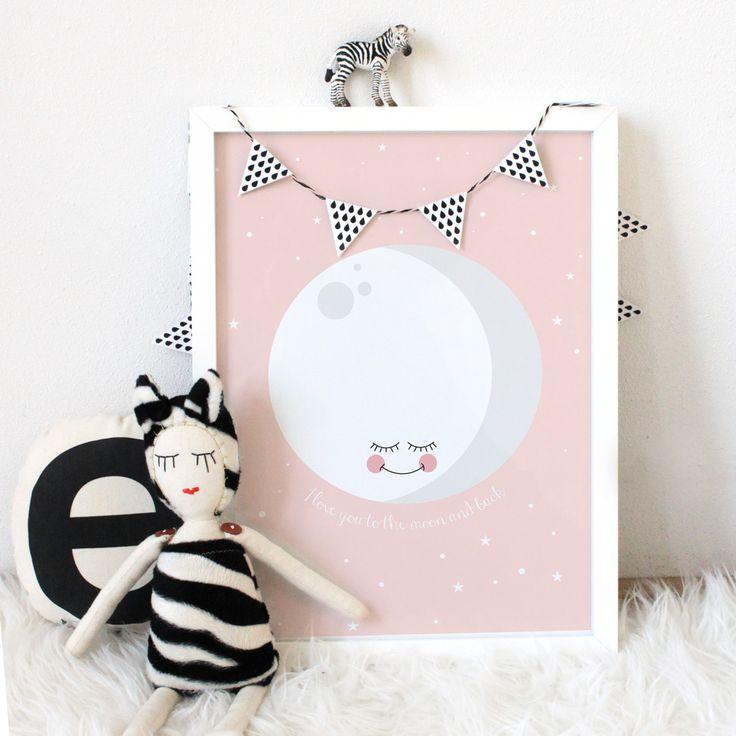 Poster 'pink moon' von Eef Lillemor