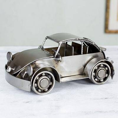 Mexico Handmade Recycled Auto Parts Metal Vintage Beetle