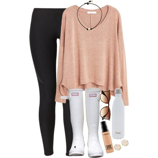 gah so scared what even jeez louise by elizabethannee on Polyvore featuring MANGO, NIKE, Hunter, Kendra Scott, J.Crew, MAC Cosmetics, S'well, women's clothing, women's fashion and women