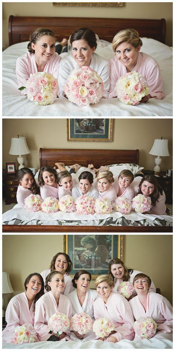 Brautjungfern-Foto-Ideen vor der Hochzeit
