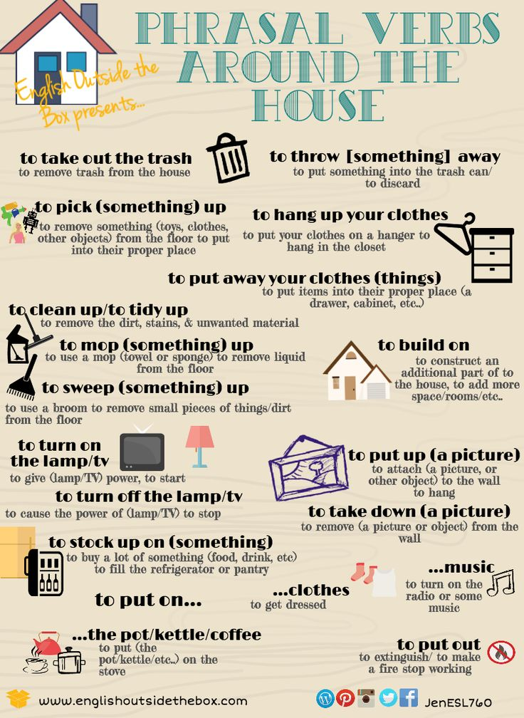 Phrasal Verbs Around the House