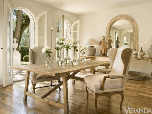 french doors to the veranda: Interior Design, Dining Rooms, Decor, Chair, Ideas, Living Room, Pam Pierce