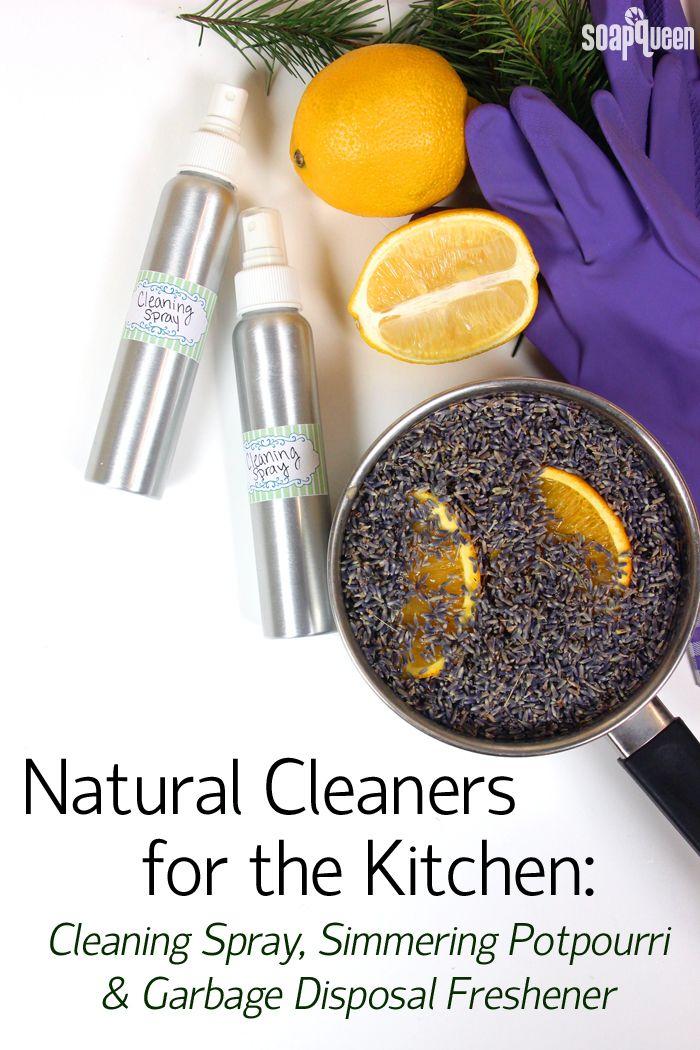 Aprenda a fazer um spray natural, limpeza, disposição de lixo mais limpo e fervendo potpourri de lavanda neste post!