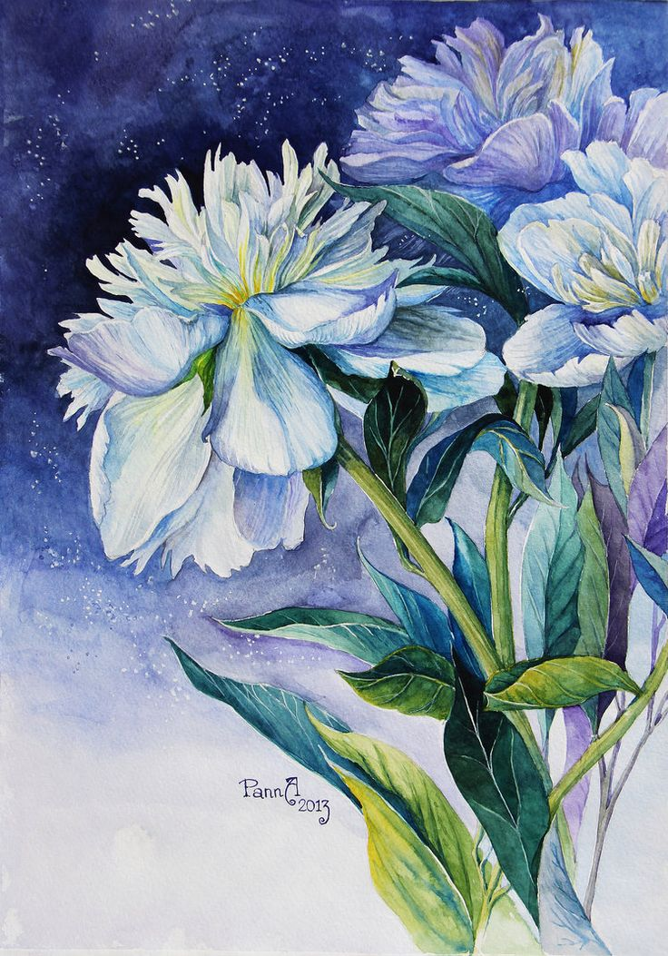 1434 best images about art watercolor flowers on pinterest for Watercolor painting images