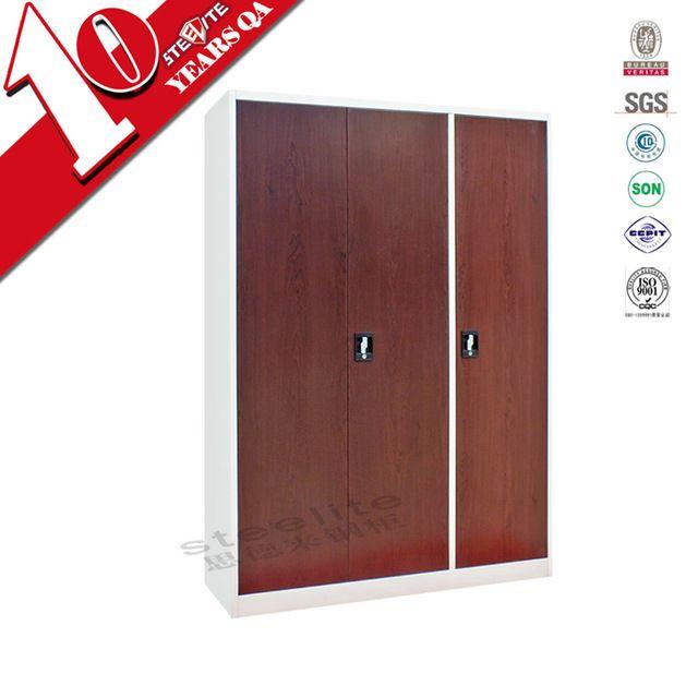 Source Bedroom Furniture 3 Door Metal Wardrobe Godrej Almirah