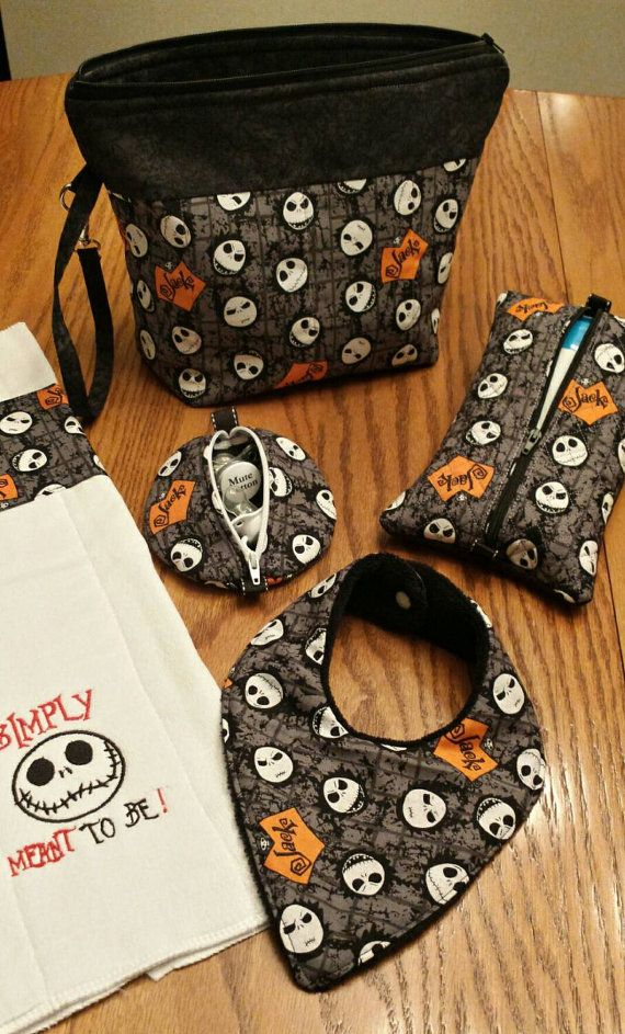 Hey, I found this really awesome Etsy listing at https://www.etsy.com/listing/247110804/jack-skellington-baby-diaper-clutch