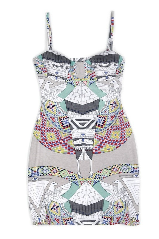 Dress with Ethno Print