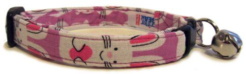 Breakaway Cat Collar in Easter Bunnies Handmade in the USA * Learn more by visiting the image link.