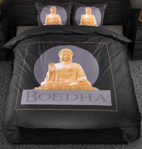 Sleeptime Dekbedovertrek Buddha zwart