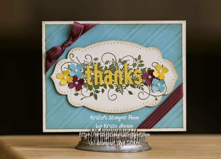Krista's Stamper Room: Seasonally Scattered Fall Thanks