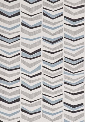 Chevron Bluebird Wallpaper by MissPrint. PEFC certified and printed in the UK