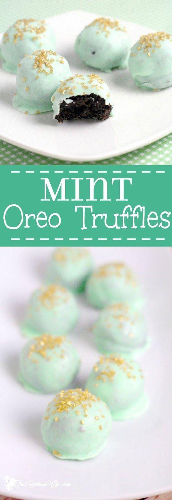 Mint Oreo Truffles Recipe - an easy mint chocolate dessert recipe idea