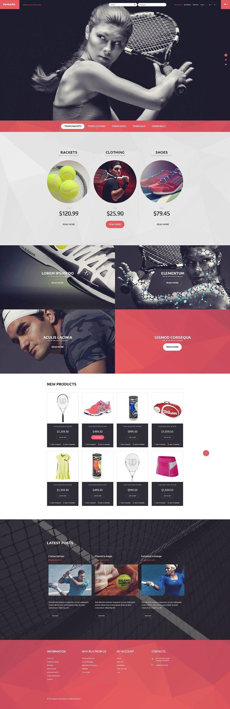 Tennis Equipment Magento Theme #website #template http://www.templatemonster.com/magento-themes/53506.html?utm_source=pinterest&utm_medium=timeline&utm_campaign=tenth