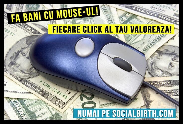 Click-urile valoreaza! SocialBirth.com