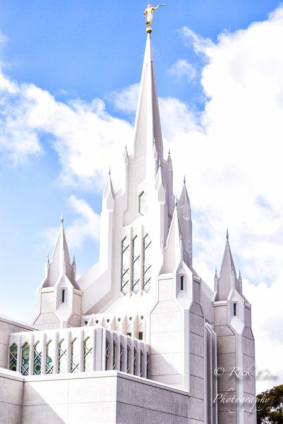 LDS San Diego Temple California 8 x 12 by RickEdraPhotography