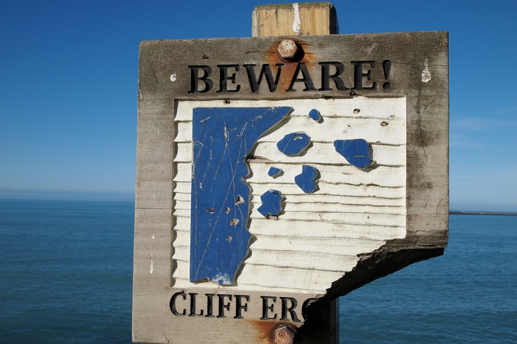 Not just the cliffs are eroding!!