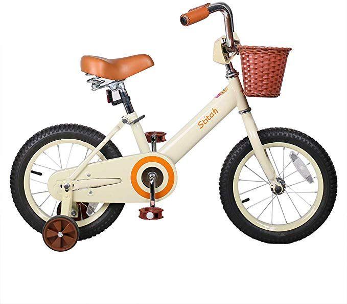 Amazon Com Joystar 14 16 Inch Kids Bike With Basket Training Wheels For 3 7 Years Old Girls Boys Ivor In 2020 Bike With Training Wheels Kids Bicycle Kids Bike