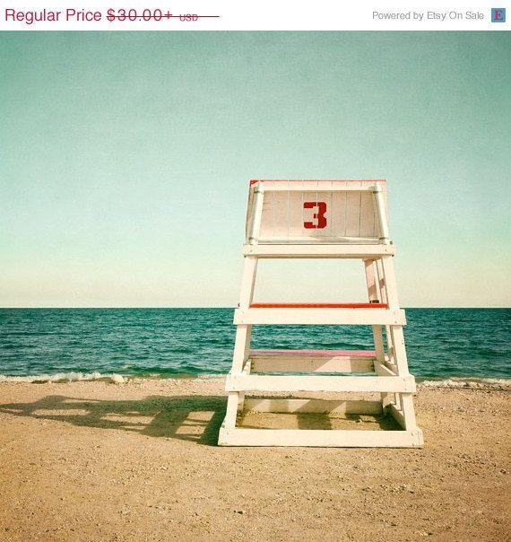Lifeguard Chair Vintage Beach Photography
