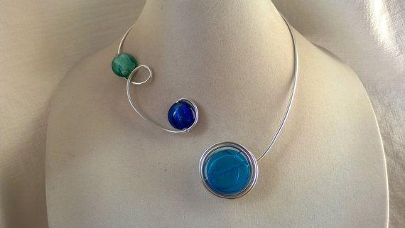 Blue jewelry blue necklace Modern jewelry by LesBijouxLibellule